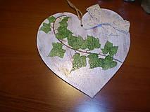 Dekorácie - Srdiečko Brečtan - 6247708_