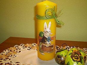 Svietidlá a sviečky - Veľká sviečka Zajac - 6247678_