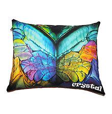 Úžitkový textil - Vankúš Crystal MOTÝĽ - 6247843_