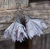 Náušnice - Tanečnice šedé - elegant - 6245774_