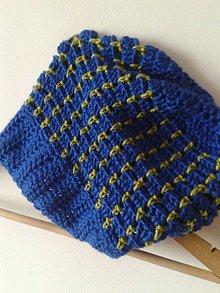 Čiapky - modra s kivi - 6246459_