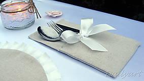 Úžitkový textil - Oblečko pre príbor Elegant - 6250840_