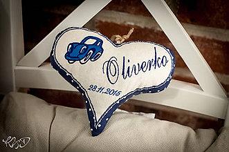 "Dekorácie - Srdiečko ""Oliverko"" - 6251209_"