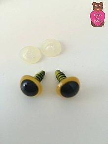 Komponenty - Bezpečnostné oči - žlté 12mm - 6250872_