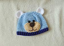 Detské čiapky - Čiapka macko pre novorodeniatko :) - 6249247_