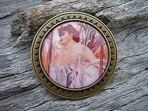 Odznaky/Brošne - Brošňa...Alphons Mucha Dáma II. - 6251121_