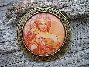 Odznaky/Brošne - Brošňa...Alphons Mucha Dáma VIII. - 6251570_