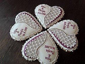 Darčeky pre svadobčanov - Svadobné srdiečka - 6251101_