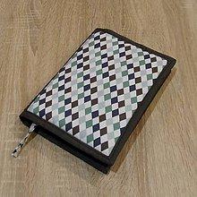 Úžitkový textil - Pre knihomoľov -  kosoštvorce L - 6251315_