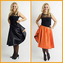 Sukne - Obojstranná saténová sukňa - 6251602_