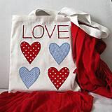 Nákupné tašky - Taška LOVE - 6251695_