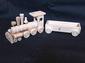 Hračky - drevený vlak z vagónom - 6248869_