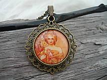 - Filigránový náhrdelník...Alphons Mucha Dáma VIII. - 6254070_
