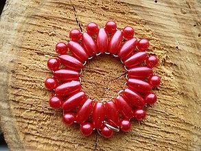 Náhrdelníky - Korálkový červený - 6253567_