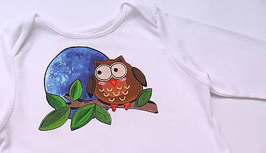 Detské oblečenie - Detské body Sova - 6253994_