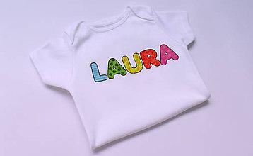 Detské oblečenie - Body s menom - 6254082_