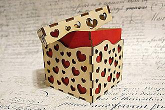 Krabičky - Krabička so srdiečkami - 6255699_