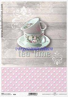 Papier - ryžový papier Vintage šáločky - 6253767_