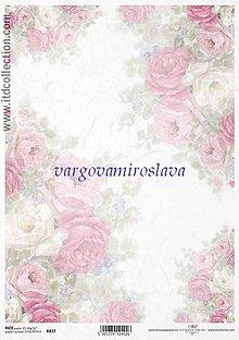 Papier - ryžový papier Vintage ruže - 6253773_