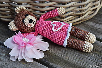 Hračky - ružová macinka srdiečková - 6257475_
