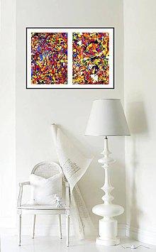 Obrazy - farebný dážď - 6256516_