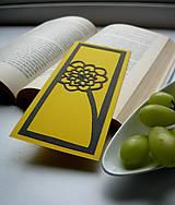 Papiernictvo - Jeden kvet na žltom... - 6257129_