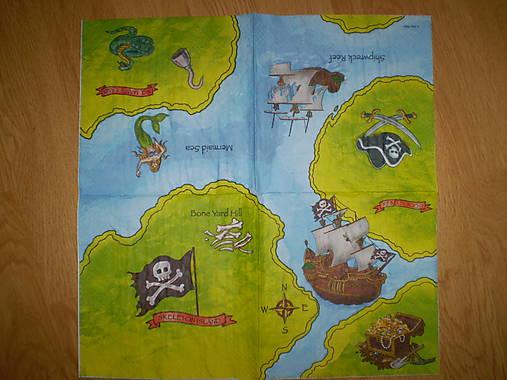 Servítka Mapa