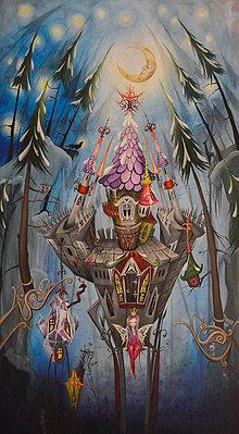 "Obrazy - Maľovaný obraz ""Nina's Castle""90cm x 50cm - 6255748_"