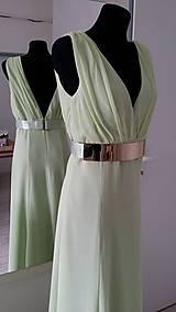 Šaty - Spoločenské šaty s V výstrihom - 6258525_