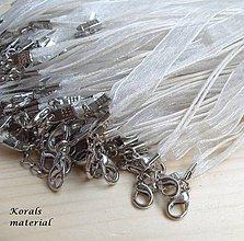 Komponenty - 2261 Stužkový náhrdelník SMETANOVÝ 2 ks - 6256191_