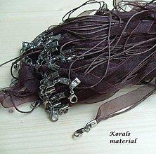 Komponenty - 2261 Stužkový náhrdelník HNĚDÝ, 2 ks - 6256342_