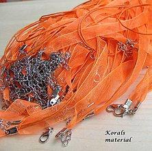 Komponenty - 2261 Stužkový náhrdelník ORANŽOVÝ, 2 ks - 6256352_