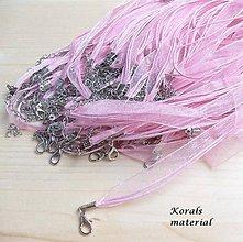 Komponenty - 2261 Stužkový náhrdelník RŮŽOVÝ, 2ks - 6256354_