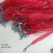 Komponenty - 2261 Stužkový náhrdelník ČERVENÝ - 6256361_