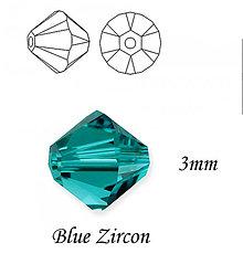 Korálky - SWAROVSKI® ELEMENTS 5328 Xilion Bead - Blue Zircon, 3mm, bal.15ks - 6259256_