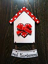 Tabuľky - Maľovaný drevený domček na dvere - 6262772_