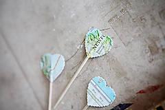 Dekorácie - Candy bar - výzdoba (špáradlá MAPA) - 6260687_