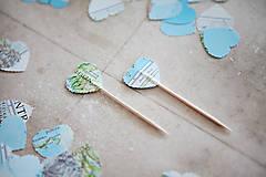 Dekorácie - Candy bar - výzdoba (špáradlá MAPA) - 6260688_