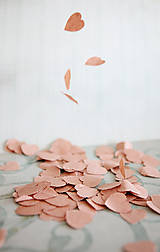 Papiernictvo - Natur svadobné konfety - 100ks (výzdoba) - 6260741_