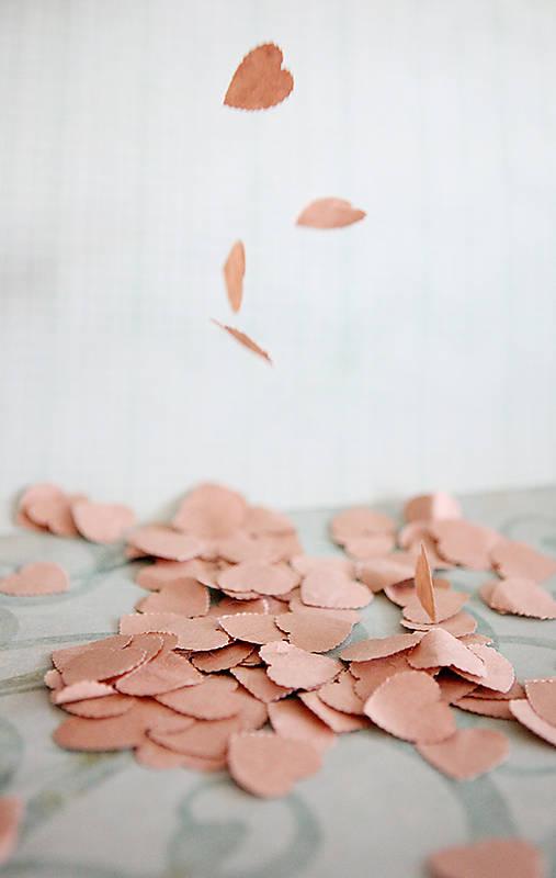 Natur svadobné konfety - 100ks (výzdoba)