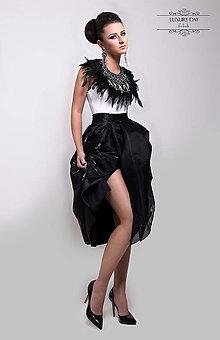 Sukne - suknička Retro TUTU BLACK s mašlou - 6261226_
