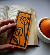 Papiernictvo - Pomarančové tulipány... - 6260812_