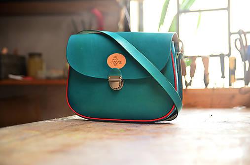 Kožená kabelka s paspulkou d83ce0e992c