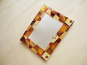 Zrkadlá - Ručne Rezané Maľované zrkadlo ZEM - 6261613_