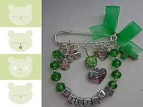 Odznaky/Brošne - Personalizovaná brošnička s menom dieťatka - 6262854_