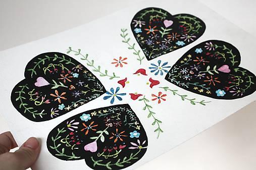 Kresby - srdcia ľudovô - 6260313_