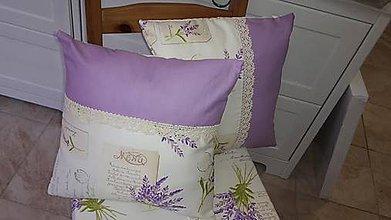 Úžitkový textil - Levanduľovéééé vankúšiky aj sedáky - šili sme na želanie - 6260698_