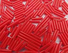Korálky - Toho Bugle TB-03-45 - Opaque Pepper Red #3(9mm), bal.10g - 6261608_