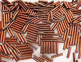 Korálky - Toho Bugle TB-03-222 - Bronze Dark Bronze #3(9mm), bal.10g - 6263125_