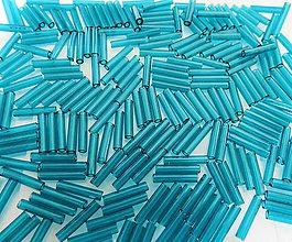 Korálky - Toho Bugle TB-03-7BD - Transparent Capri Blue #3(9mm), bal.10g - 6263157_